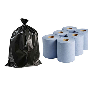 Centrefeed Tissues & Black Refuse Sacks