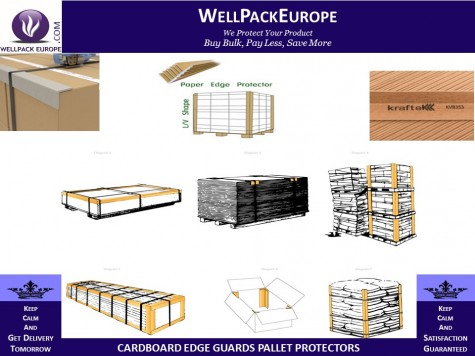 25 x Cardboard Edge Guard Pallet Protectors 35mm x 35mm x 1M L-Profile