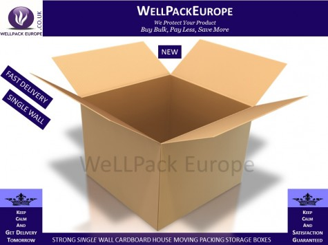 "10 x Single Wall Cardboard Postal Mailing Boxes 8""x8""x8"""