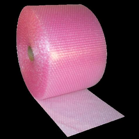 Anti Static Pink Bubble Wrap Roll 300MM x 100M | Anti Static Small Bubbles