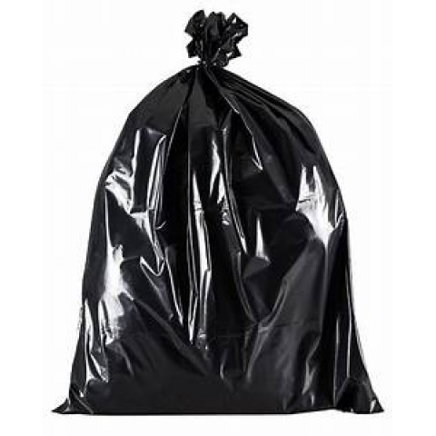 200 x BLACK BIN BAGS / REFUSE SACKS BIN LINERS RUBBISH REMOVAL