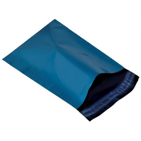 "STRONG METALLIC BLUE MAILING BAGS | 17x22 "" ( 430x560 mm )"