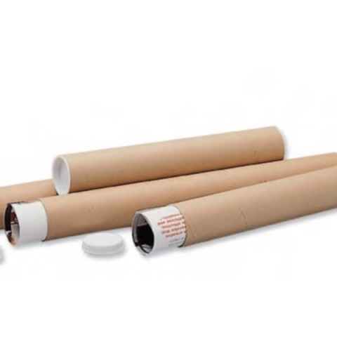 "A1 Postal Tubes - 630x45mm (25x2"") + End Caps"