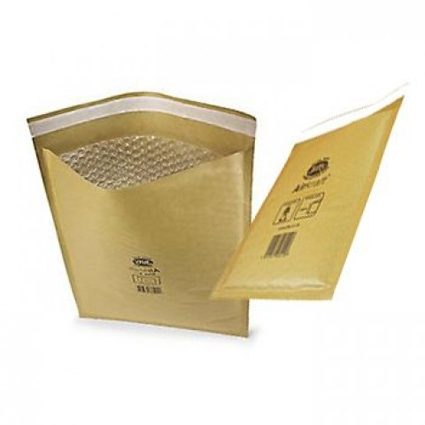 50 x Jiffy Airkraft Size JL0 (C) Padded Envelopes 140x195mm