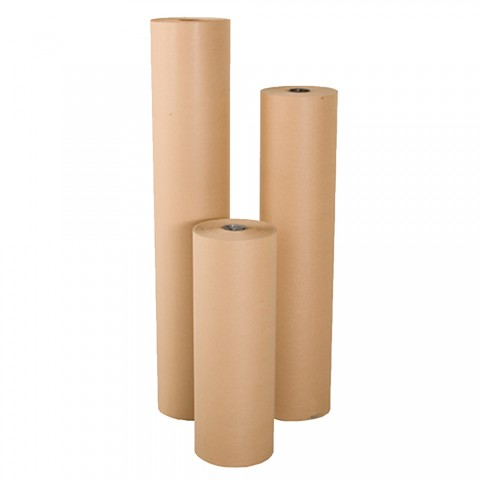 750mm x 225M Brown Kraft Paper Wrapping Paper Roll 88gsm