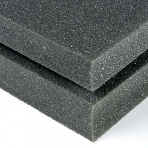 POLYURETHANE HIGH DENSITY PACKAGING CRAFT FOAM | LARGE GREY FOAM SHEETS 25MM (2.5CM)