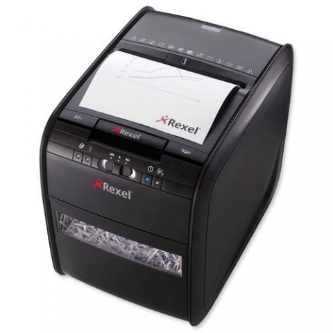 Rexel Paper Shredder 60x Cross Cut Automatic Autofeed 60 Sheets Capacity | Shreds Paper | Credit Cards
