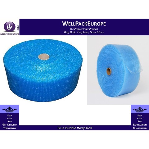 ANTI STATIC BLUE SMALL BUBBLE WRAP ROLL | 500MM (50CM) WIDE x 100 METRE LONG FULL ROLL