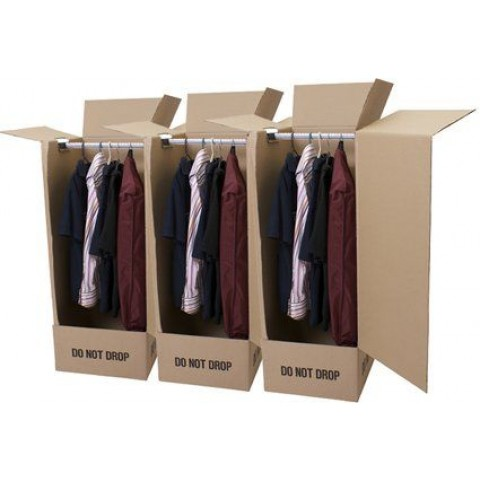 Wardrobe Carton Storage Garment Packing Boxes 20x19x49 ""