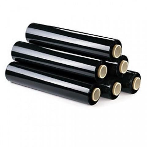 12 Black Pallet Stretch Wrap   Standard Core