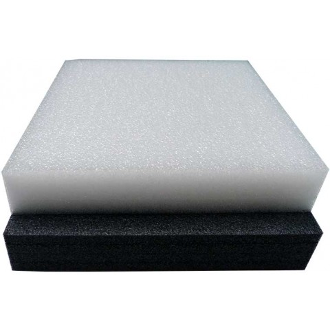 Black Ethafoam | Stratocell | Closed Cell Foam Sheets Blocks | 25mm (2.5cm) | Polyethylene Low Density Packing Craft Insulation Foam