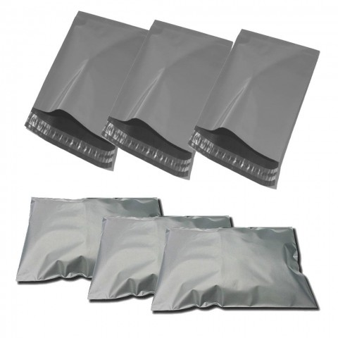 """STRONG GREY MAILING BAGS   14x16 """" ( 350x400 mm )"""