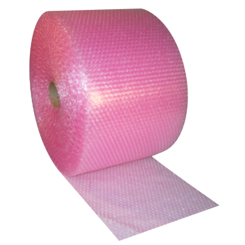 ANTI STATIC PINK SMALL BUBBLE WRAP ROLL | 500MM (50CM) WIDE x 100 METRE LONG FULL ROLL