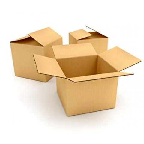 "10 x Single Wall Cardboard Postal Mailing Boxes 6""x6""x6"""