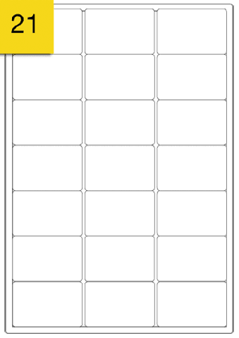 A4 Sheets of Plain Printer Address Labels - 21 Per Sheet x 100