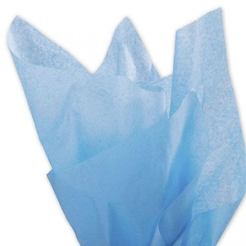 100 x Baby Blue Acid Free Tissue Packing Paper Sheets Gift Party Clothes Wrap