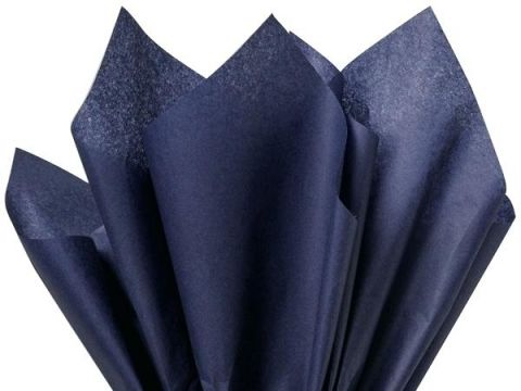 100 x Navy Blue Acid Free Tissue Packing Paper Sheets Gift Party Clothes Wrap