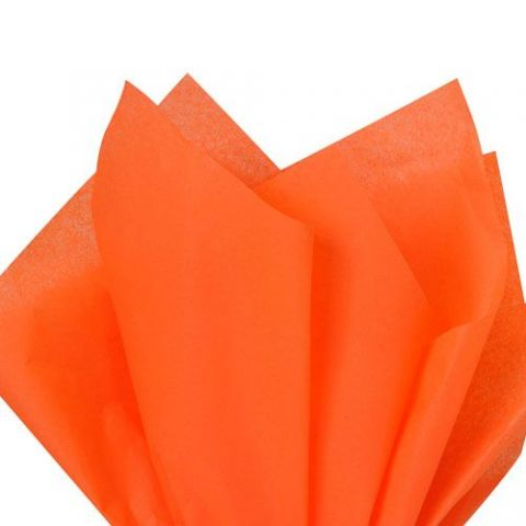 100 x Orange Acid Free Tissue Packing Paper Sheets Gift Party Clothes Wrap