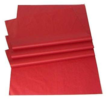 100 x Red Acid Free Tissue Packing Paper Sheets Gift Party Clothes Wrap