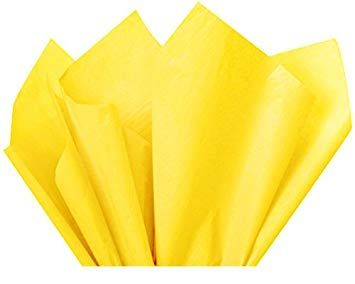 100 x Yellow Acid Free Tissue Packing Paper Sheets Gift Party Clothes Wrap