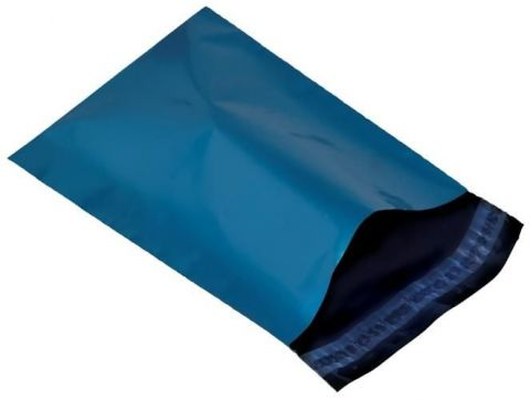 "50 X MEDIUM BLUE POSTAGE MAILING PARCEL BAGS | 12x16 "" ( 305x406 mm )"