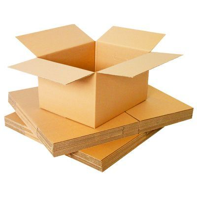 5 X Medium DW Cardboard Packing Storage Boxes 14x14x14 "