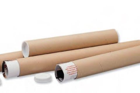 Cardboard Postal Tubes + Plastic End Caps