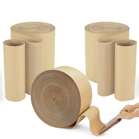 Corrugated Cardboard Paper Roll 300mm x 75M