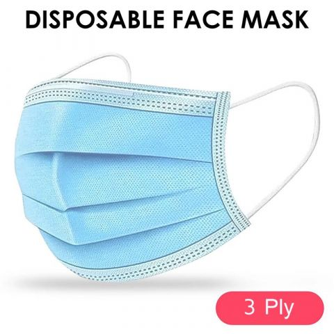 Disposable Face Mask Surgical / Medical Anti dust Flu Virus Safety Earloop 3Ply