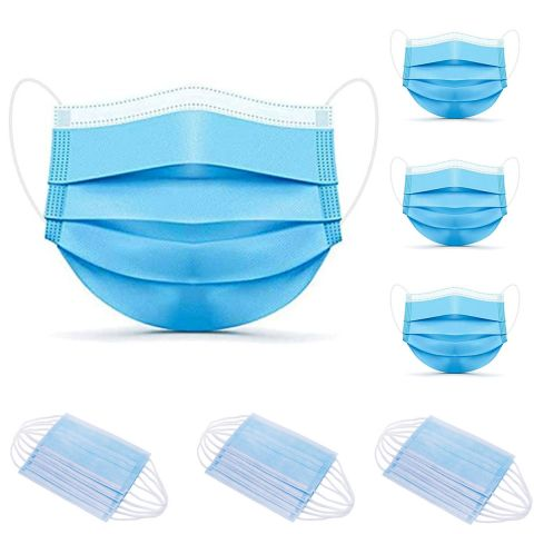 5 x Disposable Face Masks 3 Layer Adjustable Breathable Filter Earloop Protection