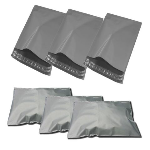 "50 X LARGE GREY POSTAGE POLY MAILING PARCEL BAGS | 12x16 "" ( 305x405 mm )"