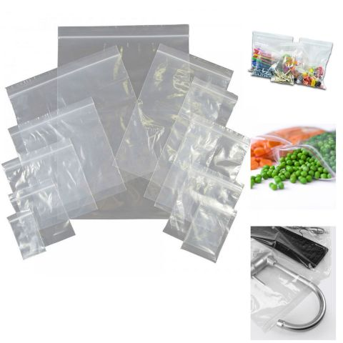 50 x Grip Seal Bags Resealable Polythene Plastic Clear Bags GL09