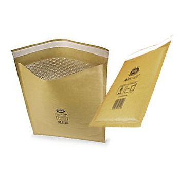 50 x Jiffy Airkraft Size JL000 (A) Padded Envelopes 90x145mm