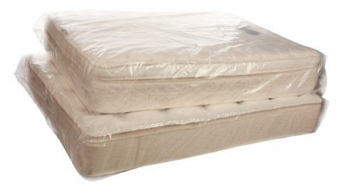 KING SIZE MATTRESS CLEAR POLY COVER STORAGE BAGS