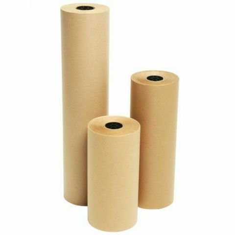 Quality Brown Kraft Wrapping Packing Parcel Gift Party Paper Roll 450mm x 5m