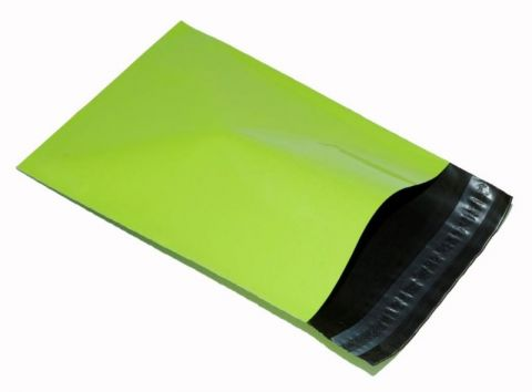 """100 X STRONG NEON GREEN MAILING BAGS 