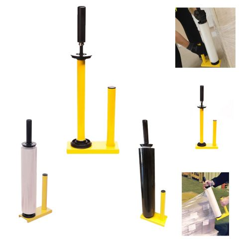 PALLET STRETCH SHRINK WRAP DISPENSER ROLLER HOLDER