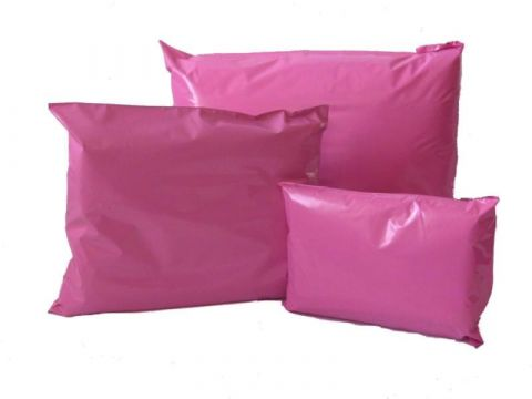 "25 X MEDIUM A4 PINK POSTAGE MAILING PARCEL BAGS | 10x14 "" ( 250x350 mm )"