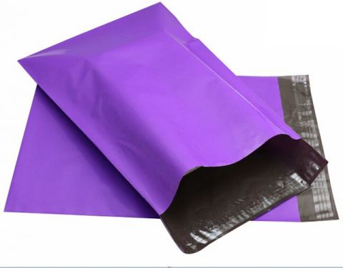 """100 X STRONG PURPLE MAILING BAGS 