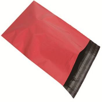 "25 X LARGE RED POSTAGE MAILING PARCEL BAGS | 14x20 "" ( 355x500 mm )"