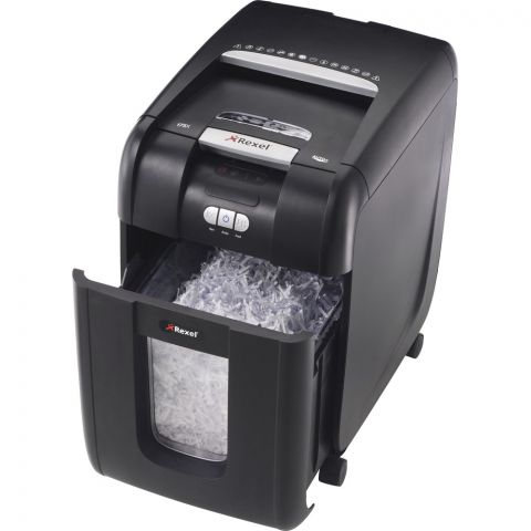 Rexel Paper Shredder 200x Cross Cut Automatic Autofeed 200 Sheets Capacity | Shreds Paper | Credit Cards | CDs