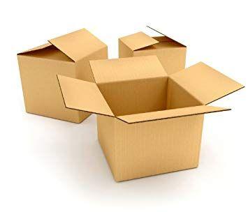 "5 Single Wall Cardboard Postal Mailing Boxes 8""x6""x4"""