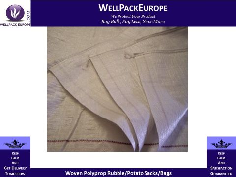 25 x Woven Polyprop Rubble/Potato Sacks/Bags 22x36""