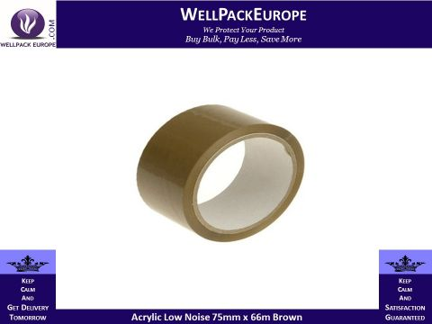 Acrylic Low Noise Brown 8 Rolls