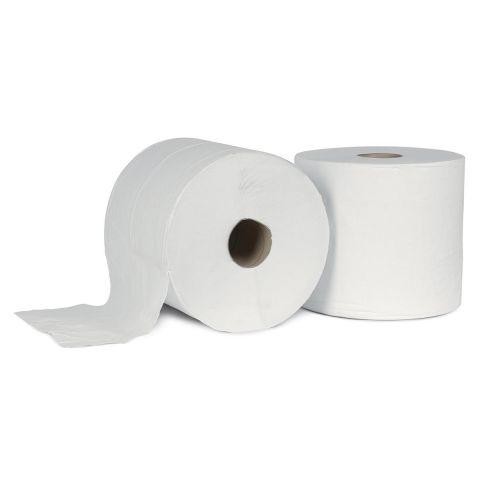 Toilet tissue paper rolls white