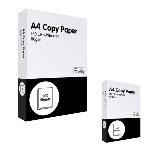 5 Reams Box of A4 Printer / Copier Multipurpose Paper (2500 Sheets)