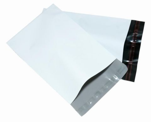 "50 X MEDIUM A4 WHITE POSTAGE MAILING PARCEL BAGS | 10x14 "" ( 250x350 mm )"