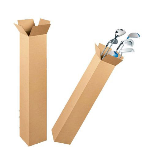 "5 x Golf Club Cardboard Boxes Cartons 49x5x4 "" inch"