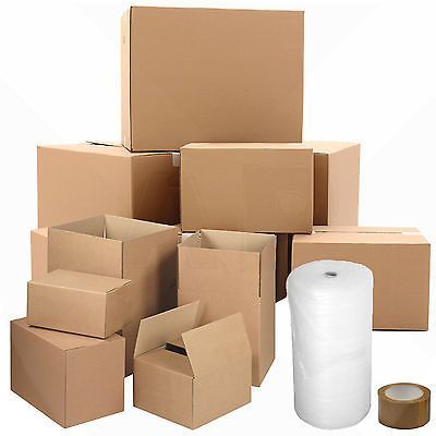 HOUSE MOVING REMOVAL BOXES BUBBLE PACK KIT | SMALL