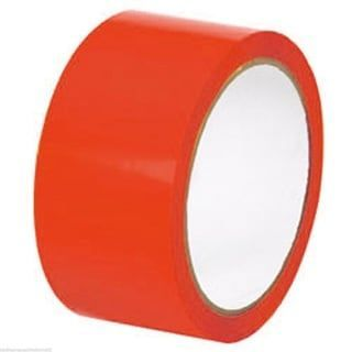 Red Coloured Packing Tape 50mm x 66m